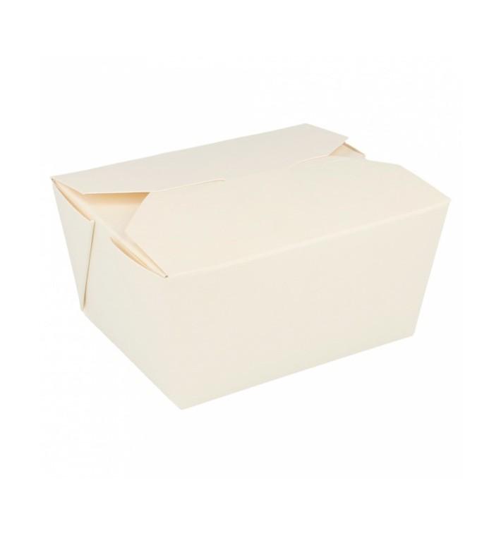 Boîte Carton Américaine Blanc 11,3x9x6,4cm 780ml (50 Utés)