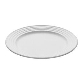Assiette Canne à Sucre Premium Wave Blanc Ø18cm (50 Unités)