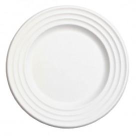 Assiette Canne à Sucre Premium Wave Blanc Ø18cm (600 Unités)
