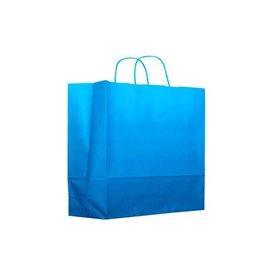 Sac en Papier Turquoise avec Anses 80g 22+9x23 cm (200 Utés)