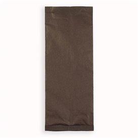 Enveloppe Porte-Couverts avec Serviettes Marron (125 Utés)