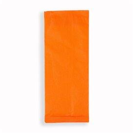 Enveloppe Porte-Couverts avec Serviettes Orange (125 Utés)