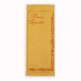 """Enveloppe Porte-Couverts avec Serviettes """"Buon Appetito"""" (1000 Utés)"""