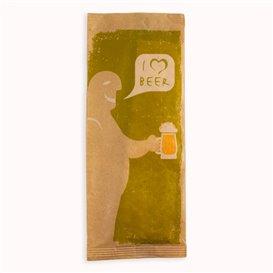 """Enveloppe Porte-Couverts avec Serviettes """"I Love Beer"""" (125 Utés)"""