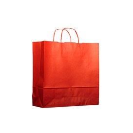 Sac en Papier Kraft Rouge avec Anses 100g 22+9x23 cm (25 Utés)
