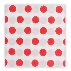 """Serviette Papier molletonnée """"Pois Rouge"""" 40x40cm (600 Utés)"""