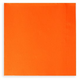 Serviette Papier à Cocktail 20x20 Orange (6.000 Unités)