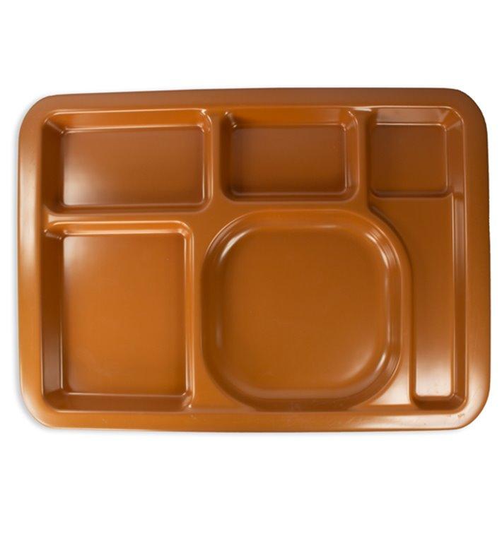 Barquette Plastique PS Dur Chocolat 5C 470x350mm (1 Uté)