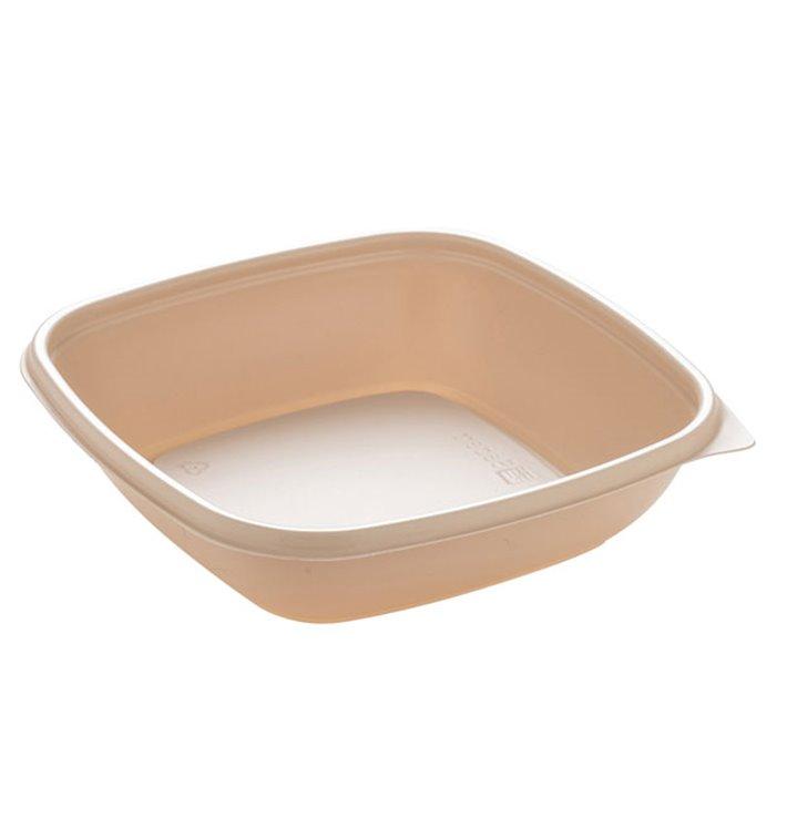 Barquette Plastique PP Crème 500ml 16,5x16,5x4cm (300 Utés)