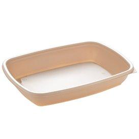Barquette Plastique PP Crème 600ml 23x16,5cm (300 Utés)