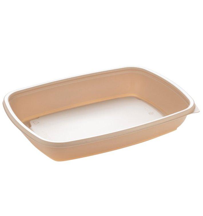 Barquette Plastique PP Crème 600ml 23x16,5cm (75 Utés)