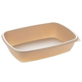 Barquette Plastique PP Crème 900ml 23x16,5cm 900ml (75 Utés)