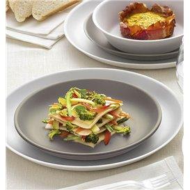 Assiette Réutilisable Premium PP Minéral Blanc Ø18cm (6 Utés)