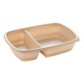 Barquette Plastique PP 2C Crème 900ml 23x16,5x5cm (75 Utés)