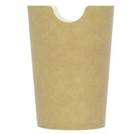 Gobelet Carton Ingraissable Effet Kraft avec Rabat 14Oz/420ml (1000 Utés)
