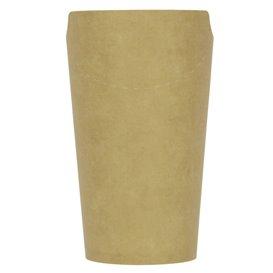 Gobelet Carton Ingraissable Effet Kraft avec Rabat 16Oz/480ml (50 Utés)