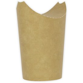 Gobelet Carton Ingraissable Effet Kraft avec Rabat 16Oz/480ml (1000 Utés)