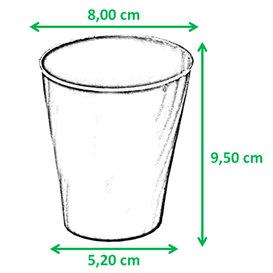 """Gobelet Plastique PP """"X-Table"""" Noir 320ml (128 Utés)"""