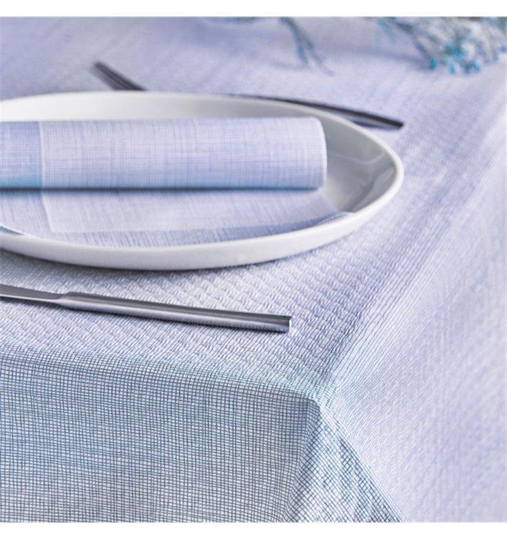 """Nappe en papier 1,2x1,2m """"Entre Lignes"""" Bleu 40g/m² (300 Utés)"""