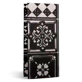 """Serviette Papier Molletonnée 1/8 33x40cm """"Alhambra"""" Noir (50 Utés)"""