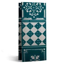 """Serviette Papier Molletonnée 1/8 33x40cm """"Alhambra"""" Turquoise (50 Utés)"""