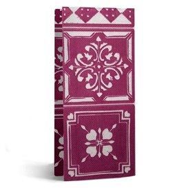 """Serviette Papier Molletonnée 1/8 33x40cm """"Alhambra"""" Aubergine (50 Utés)"""