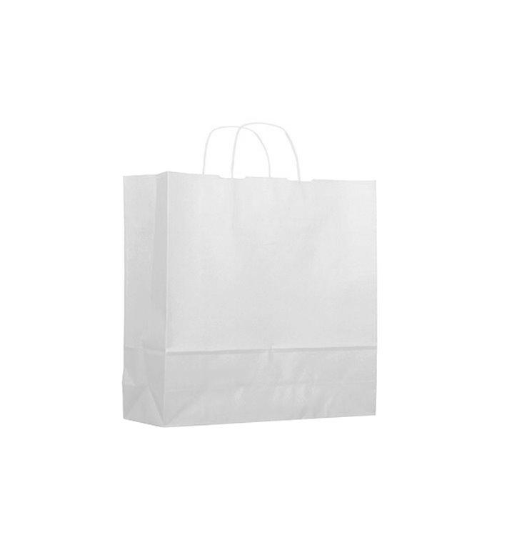 Sac en papier Blanc avec Anses KRAFT 100g 18+8x24cm (300 Utés)