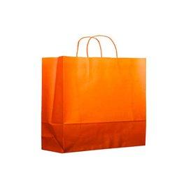 Sac en Papier Orange avec Anses 80g 20+10x29 cm (200 Utés)