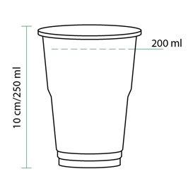 Gobelet Plastique PET Cristal 250ml Transparent (50 Unités)