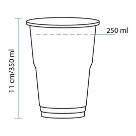 Gobelet Plastique PET Cristal 350ml Transparent (50 Unités)