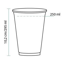 Gobelet Plastique Rigide Haut en PET 295 ml Ø8,1cm (1.000 Unités)