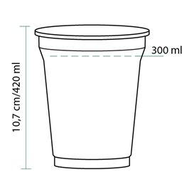 Gobelet Plastique Rigide Haut en PET 420 ml Ø9,3cm (1.000 Unités)