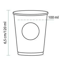 Gobelet Carton PLA BioWare 4Oz/120ml Ø6,2cm (2000 Unités)