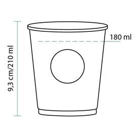 Gobelet Carton Cupmatic 8Oz/210ml Ø7,0cm (2500 Utés)