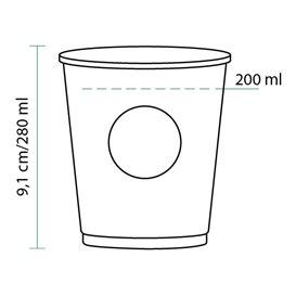Gobelet Carton Cupmatic 9 Oz/280ml Ø8,0cm (50 Utés)