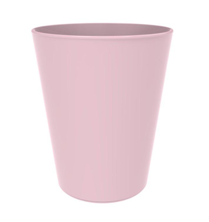 Gobelet Réutilisable Durable PP Minéral Rose 330ml (6 Utés)