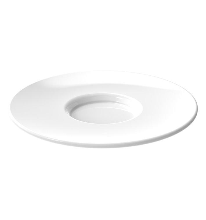 """Assiette Réutilisable SAN pour Tasse """"Espresso"""" Blanc 80ml (6 Utés)"""