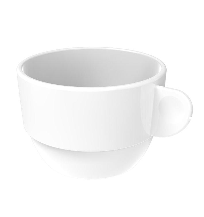 """Tasse Réutilisable SAN """"Cappuccino"""" Blanc 166ml (36 Utés)"""