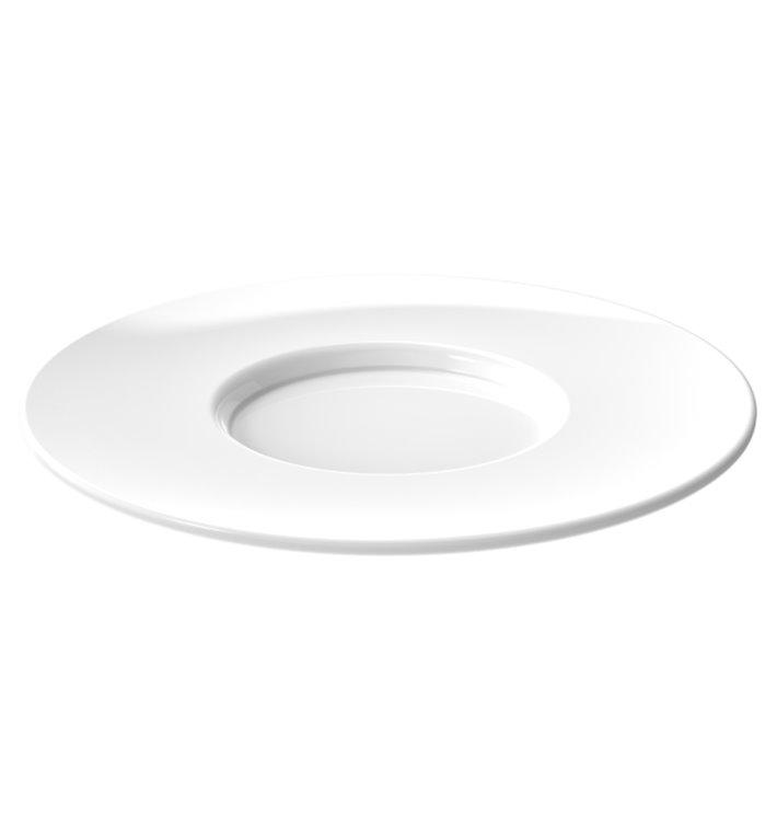 """Assiette Réutilisable SAN pour Tasse """"Cappuccino"""" Blanc 166ml (36 Utés)"""