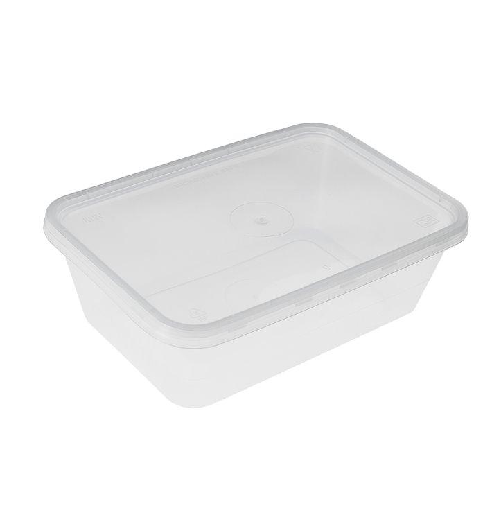 Barquette et Couvercle Plastique Transparent 500ml (50 Utés)