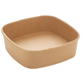 Pot Carré en Carton Kraft 750ml 17x17x5cm (300 Utés)