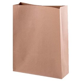 Sac en papier KRAFT sans anses 26+9x31cm (250 Utés)