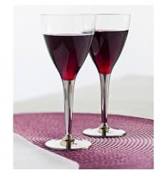 Coupe Plastique Vin Pied Argenté 130ml (100 Utés)