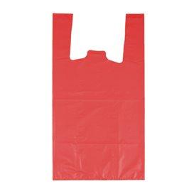 """Sac à Bretelles 70% Recyclé """"Colors"""" Rouge 42x53cm 50µm (40 Utés)"""
