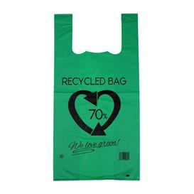 Sac à Bretelles 70% Recyclé Vert 42x53cm 50µm (1.000 Utés)