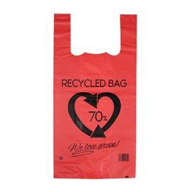 Sac à Bretelles 70% Recyclé Rouge 42x53cm 50µm (50 Utés)