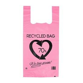 Sac à Bretelles 70% Recyclé Rose 42x53cm 50µm (50 Utés)