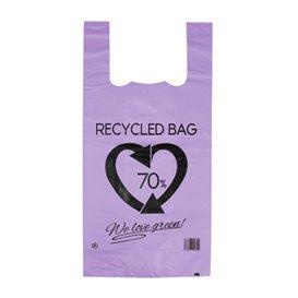 Sac à Bretelles 70% Recyclé Lilas 42x53cm 50µm (1.000 Utés)