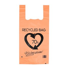 Sac à Bretelles 70% Recyclé Orange 42x53cm 50µm (50 Utés)