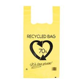 Sac à Bretelles 70% Recyclé Jaune 42x53cm 50µm (50 Utés)